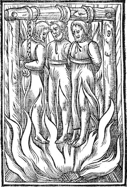 The burning of Savonarola and two of his supporters, Florence, 1498